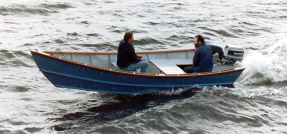 A fast wood boat that handles well