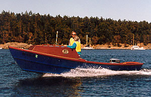 21' Dory, a custom wood dory that is light, fast, and fun