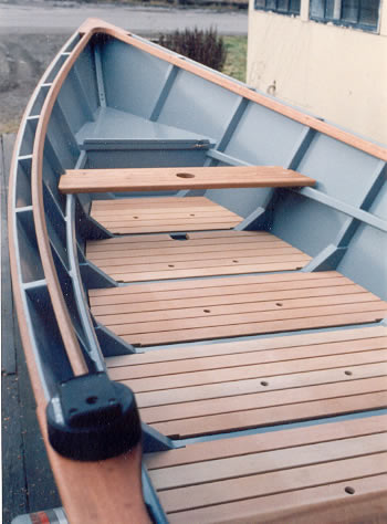Custom Wood Boatbuilding 21 Planing Dory Interior Photos