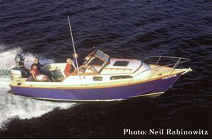 Perfect sportfishing and family boat, the 23' Chinook