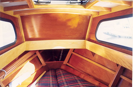 Custom Wooden Boat Building 23 39 Planing Dory Interior Photos