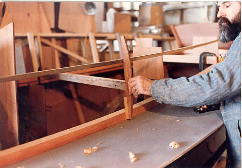 Custom Wooden Boat Building The 27 St Pierre Dory Deck