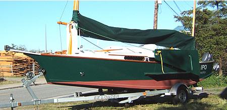 Building a custom wood sailboat, the 25' Black Skimmer